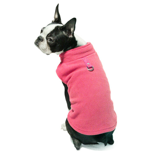 Gooby Pet Fleece Vest Pink Color