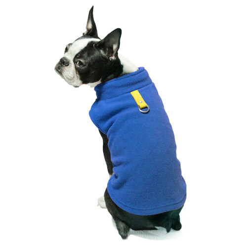 Gooby Pet Fleece Vest Royal Blue Color