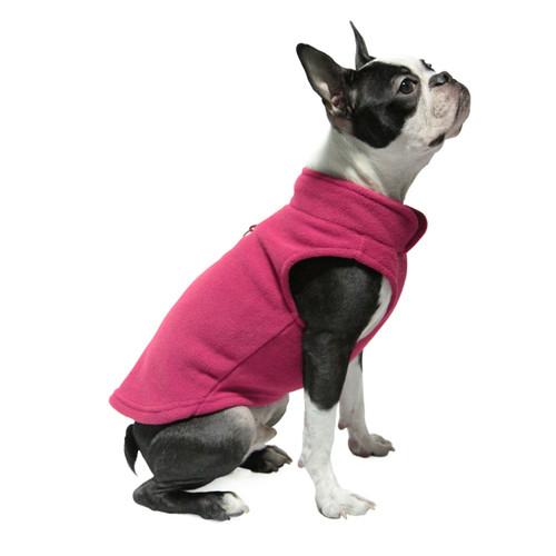 Gooby Pet Fleece Vest Fushia Color