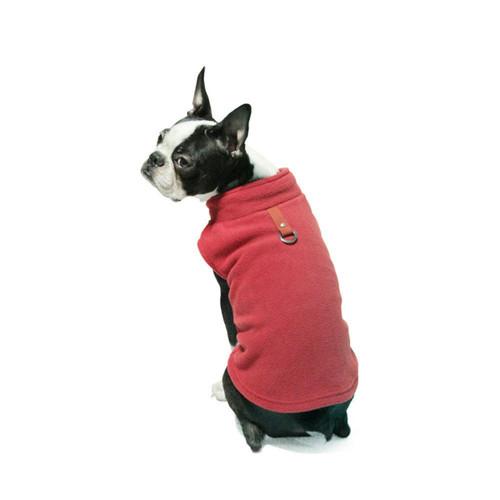 Gooby Pet Fleece Vest Red Color