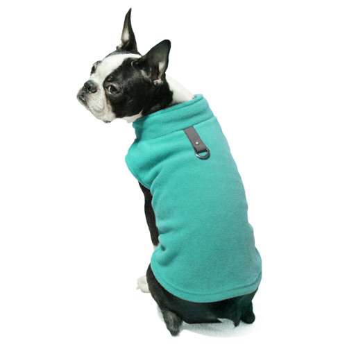 Gooby Pet Fleece Vest Teal Color