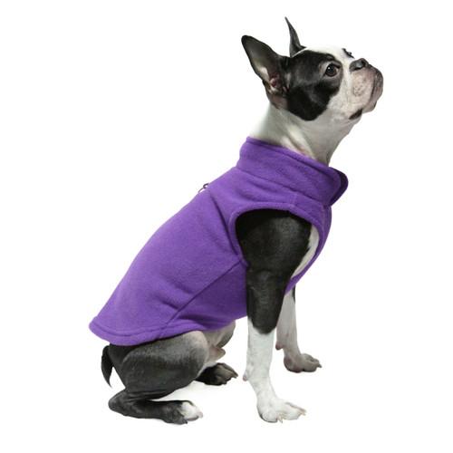 Gooby Pet Fleece Vest Purple Color