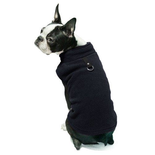 Gooby Pet Fleece Vest Dark Navy Blue