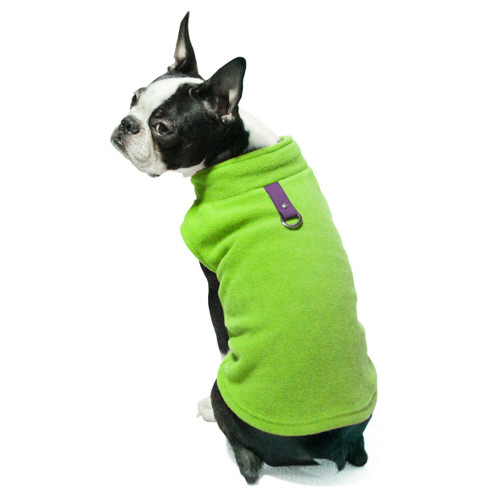 Gooby Pet Fleece Vest Lime Green