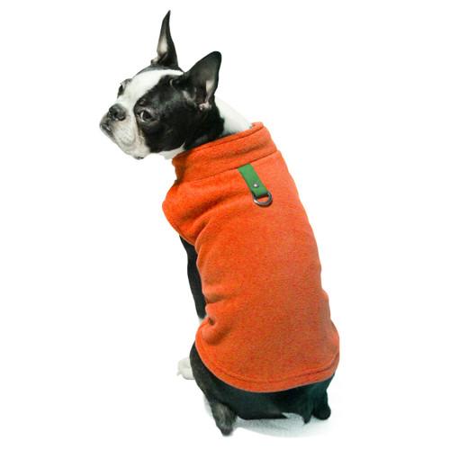 Gooby Pet Fleece Vest Pumpkin Color