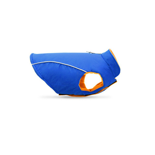 Gooby Pet Sports Vest Blue & Orange Dog Coat