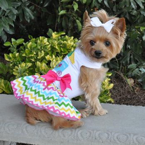 Ice Cream Cart Harness Dress with Matching Leash