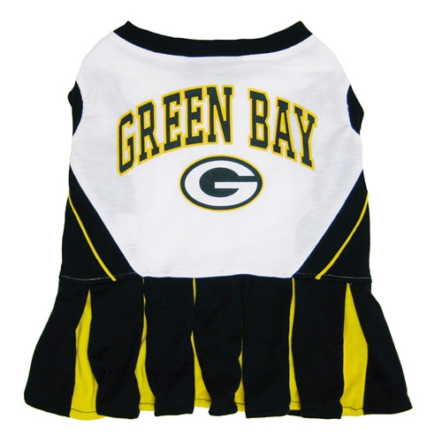Green Bay Packers Officially Licensed NFL Pet Cheerleader Dress ... f7fdf7de7