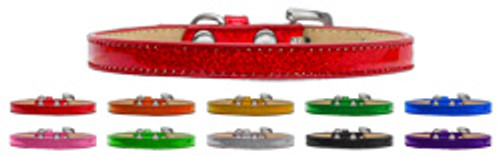 """Metallic Ice Cream Collars 3/8"""" With or Without Bling Charms & Letters"""