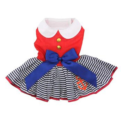 Sailor Girl Harness Dress with Matching Leash