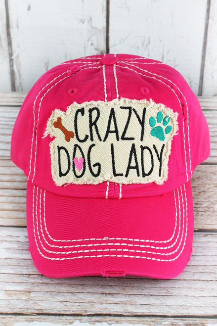 Vintage Crazy Dog Lady Ballcaps