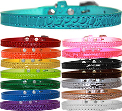 "Croc Collars 3/8"" With or Without Bling Charms & Letters"