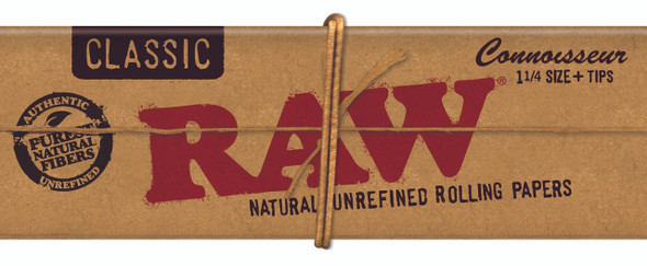 RAW Classic Papers Connoisseur 1-1/4 + Tips
