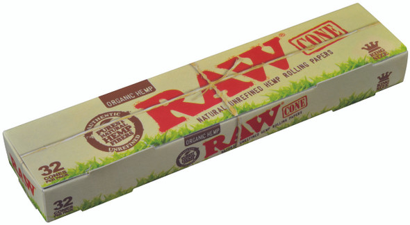 RAW Organic Pre-Rolled Cone King Size 32 per pack