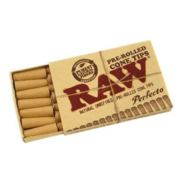RAW Pre-Rolled Cone Tips Perfecto