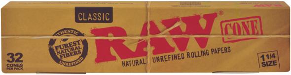 RAW Classic Pre-Rolled Cone 1-1/4 32 per pack