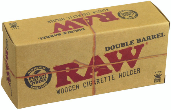 RAW Double Barrel Wooden Cigarette Holder King Size