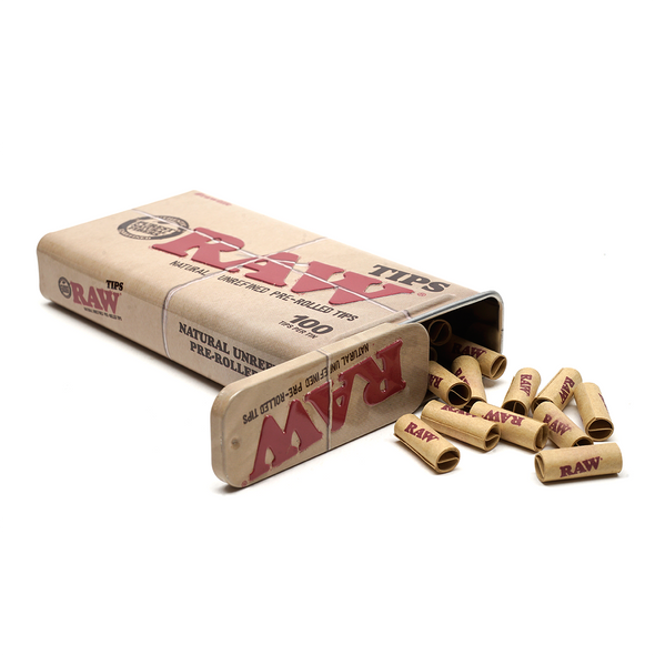 RAW Metal Tin with Pre-Rolled Tips (100 per)