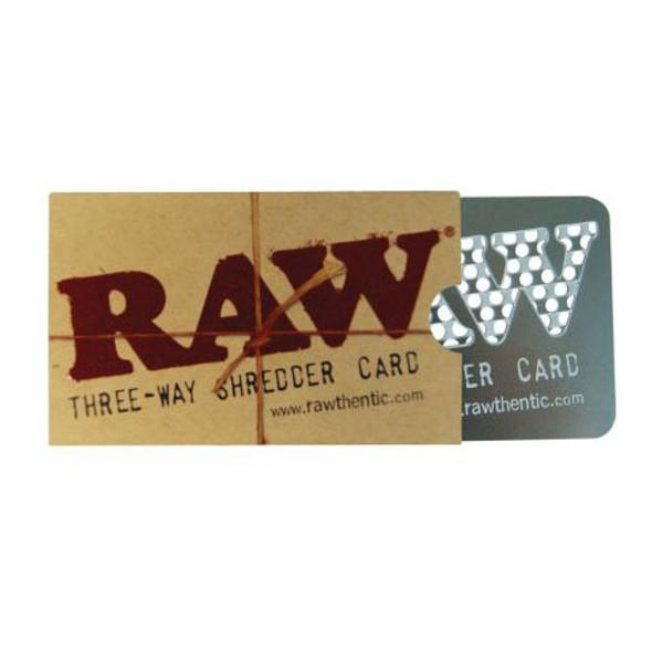 RAW Three-Way Shredder Card 8.5 X 5cm