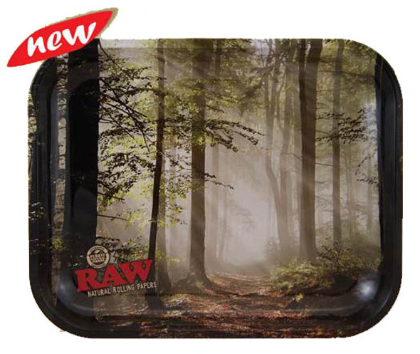 RAW Forest Smokey Trees 15Rolling Tray Metal Large