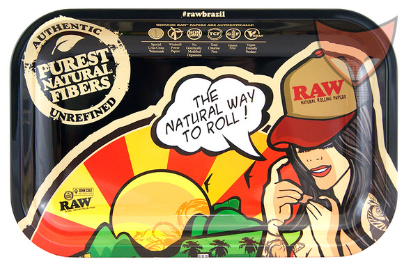 RAW Brazil Small Rolling Tray