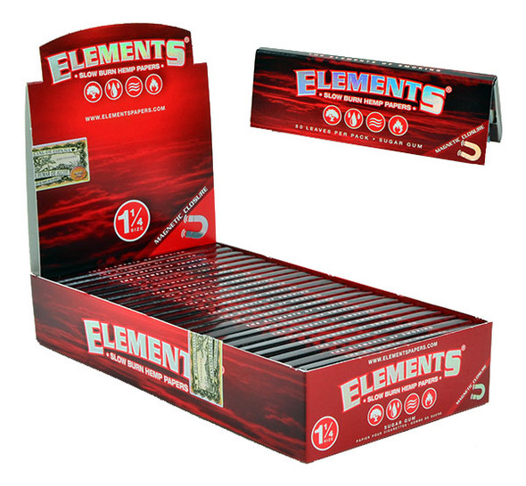 ELEMENTS 1-1/4 Slow Burn Hemp Rolling Papers