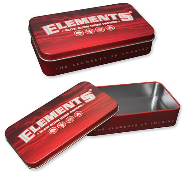 ELEMENTS Red Metal Tin Box