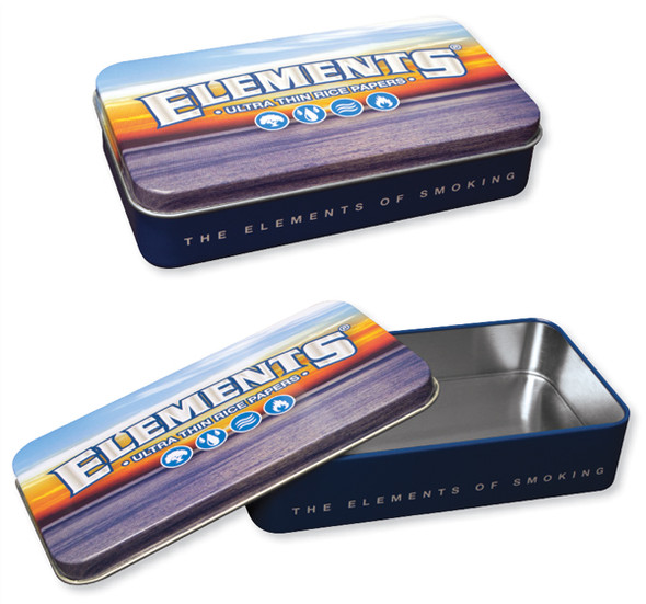 ELEMENTS Blue Metal Tin Box
