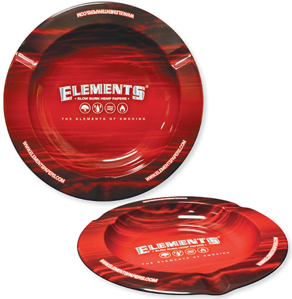 ELEMENTS Metal Ashtray Red Magnetic