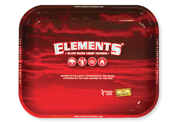ELEMENTS Red Rolling Tray Large