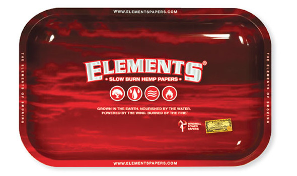 ELEMENTS Red Rolling Tray Small