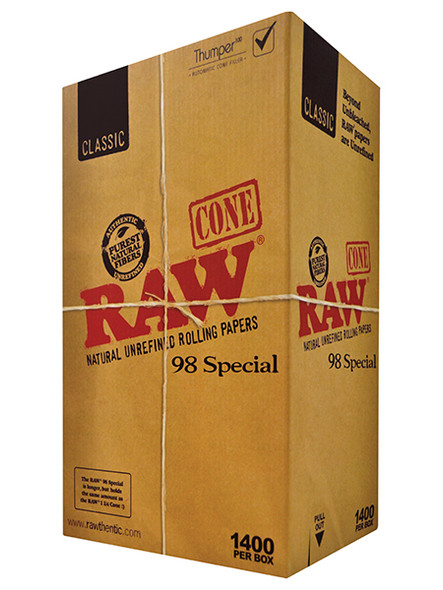RAW Classic Pre-Rolled Cone 98 Special Bulk 1,400