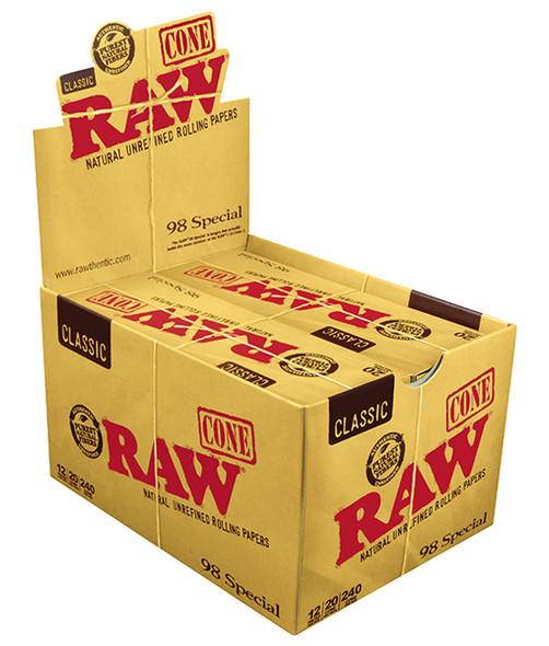 RAW Classic 98 Special 98mm/20mm Cones 20 pk
