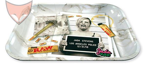 RAW Rolling Tray Large Jada Stevens Design Metal