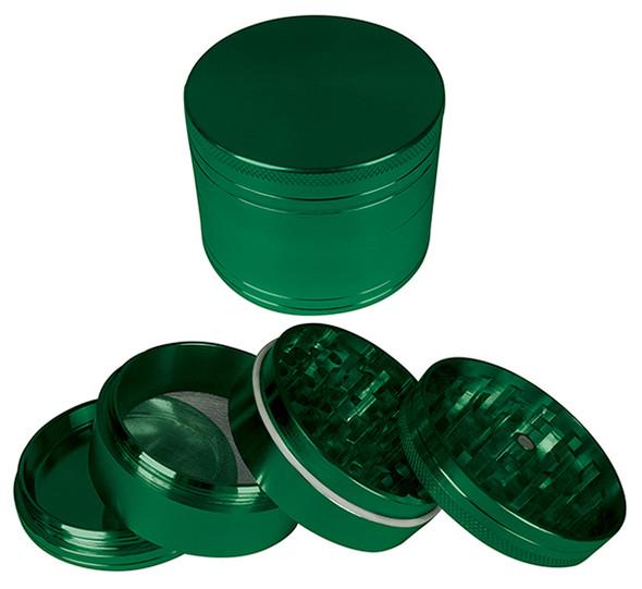 "HAMMERCRAFT 4PC Anodised Green Aluminum CNC Grinder Mini w/Maget (40mm / 1.5"")"