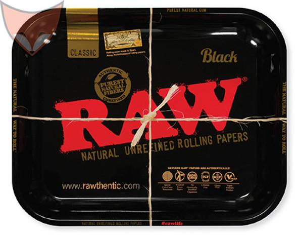 RAW Black Metal Rolling Tray Large
