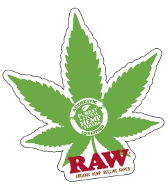 RAW CBD Leaf Sticker