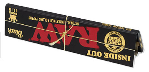 RAW Classic Black King Size Slim Inside Out Rolling Papers