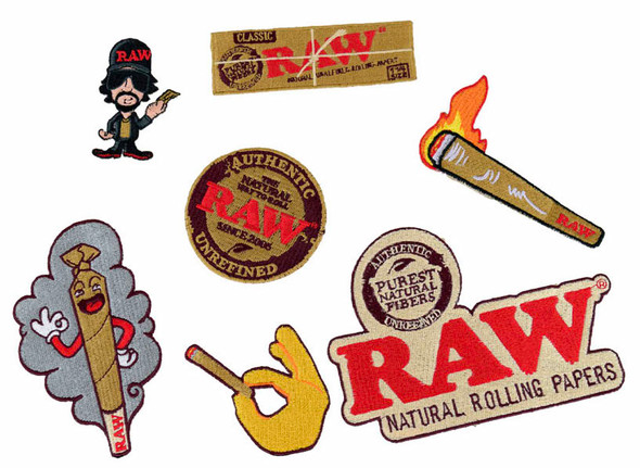 RAW Patches Mixed Bag of 7 Designs