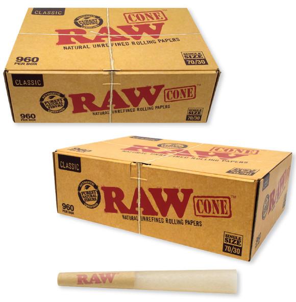 RAW Classic Bulk 70mm/30mm Cones 960 PCS
