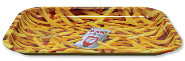 RAW Rolling Tray French Fries Metal Small