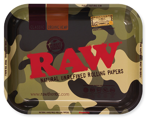 RAW Camo Rolling Tray Metal Large
