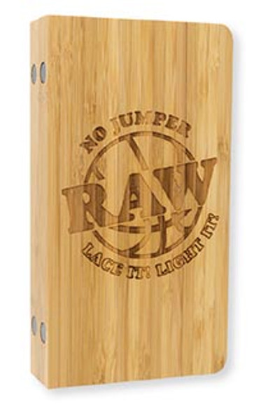 RAW X No Jumper Backflip Bamboo Rolling Tray Magnetic