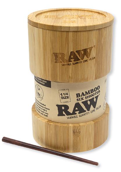 RAW Bamboo Six Shooter 1-1/4 Cone Filler