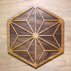 Asanoha Hexagon Two Layer Wall Art