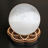 Seed of Life Sphere Stand - with optional Selenite Sphere