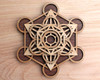 Metatrons Cube 5 Layer Sphere Stand - with optional Selenite Sphere