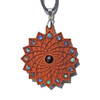 'Square Flower' Gemstone Grid Talisman - Cherry with Black Opal, Opal, Labradorite and Rainbow Moonstone