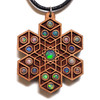 'Cube Expansion' Gemstone Grid Talisman - Cherry with 19 Ethiopian Opals