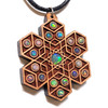 Cube Expansion Gemstone Grid Talisman - Cherry with 19 Ethiopian Opals